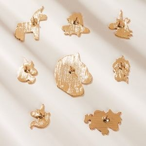 Jewelry - New 8 Pc Unicorn Brooch Set